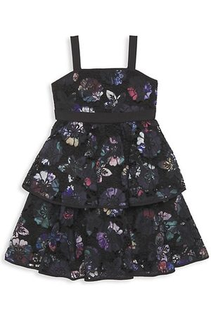 Marchesa Little Girl's & Girl's Floral Lace Tiered Dress