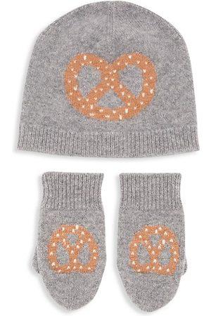 Sofia Cashmere Boys Hats - Little Kid's 2-Piece Pretzel Cashmere Hat & Mitten Set