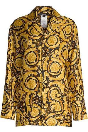 VERSACE Women Nightdresses & Shirts - Barocco Silk Sleep Shirt