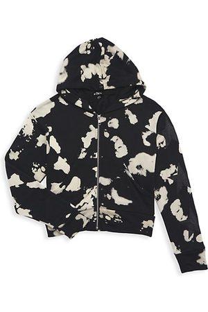 Flowers By Zoe Girls Sweatshirts - Girl's Bleached Stars Zip-Up Hoodie Sweatshirt