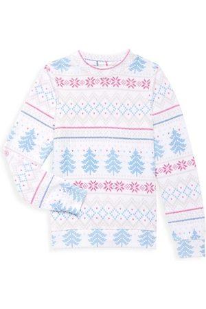 SOL ANGELES Girls Sweatshirts - Little Girl's & Girl's Fair Isle Sweatshirt