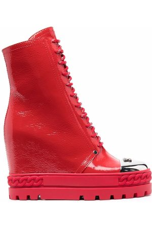 Casadei Lace-up leather boots
