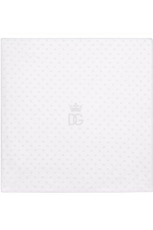 Dolce & Gabbana DG logo-print cotton blanket