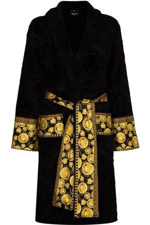 VERSACE Women Bathrobes - Medusa-print belted robe