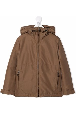 Paolo Pecora Hooded panelled coat