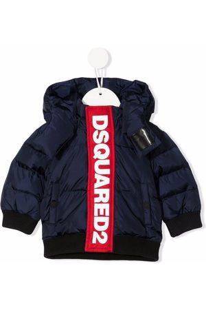 Dsquared2 Logo-stripe padded jacket