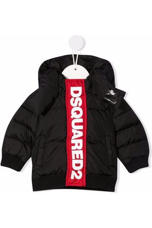 Dsquared2 Logo-print hooded puffer jacket