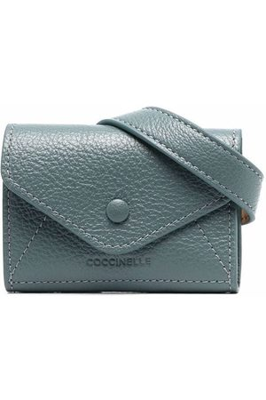 Coccinelle Embossed-logo pebble-leather wallet