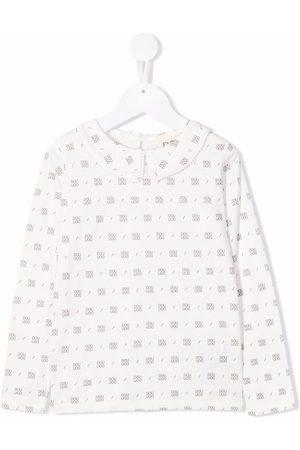 DOUUOD KIDS Logo-print cotton T-shirt