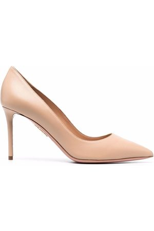 Aquazzura Pointed-toe slip-on stiletto pumps