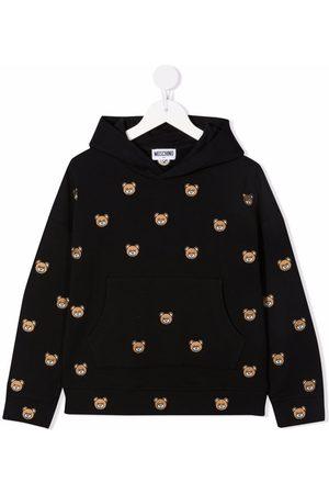 Moschino All-over logo print hoodie