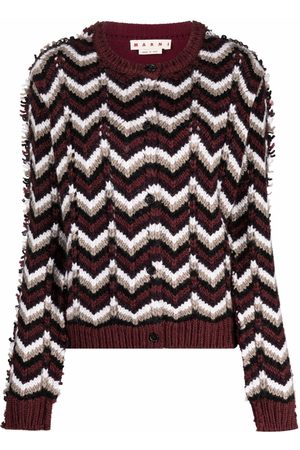 Marni Chevron knit wool-blend cardigan