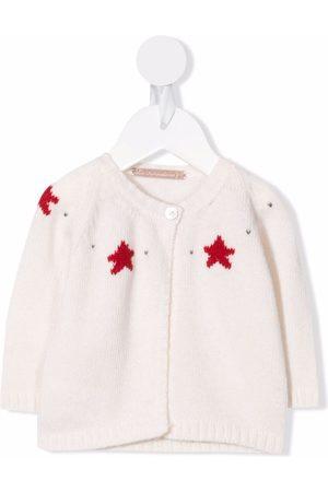 LA STUPENDERIA Star-intarsia cashmere cardigan