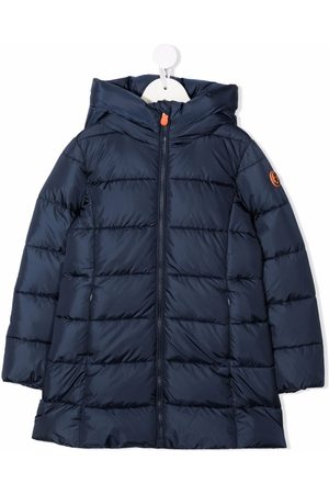 save the duck Logo-patch padded coat