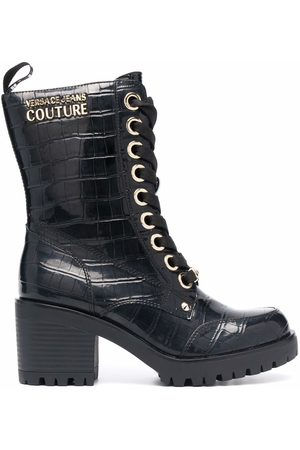 VERSACE Lace-up heeled boots