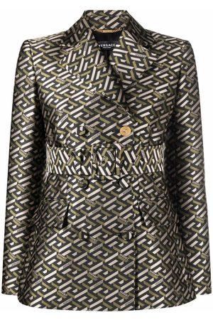 VERSACE Greca logo-print blazer
