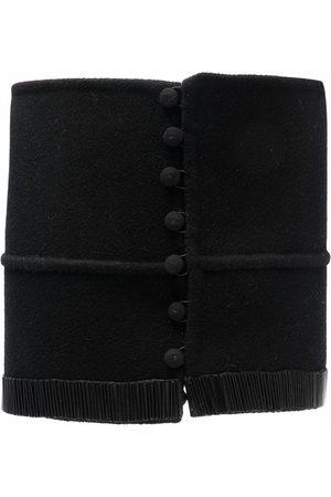 Gianfranco Ferré 1990s bead detailing buttoned waist belt