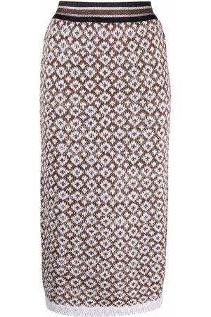 CHARLOTT Patterned-knit pencil skirt