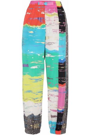 Dolce & Gabbana Abstract-print cropped trousers