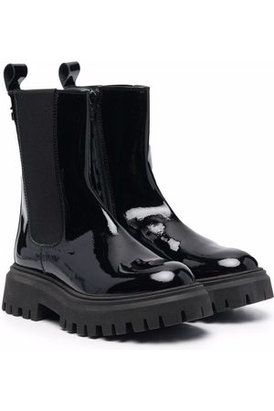 Cesare Paciotti Patent leather ankle boots
