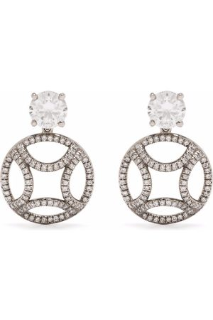 Loyal.e Paris Recycled 18kt white gold Perpétuel diamond drop earrings
