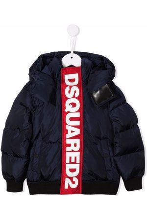 Dsquared2 Logo-tape hooded padded jacket