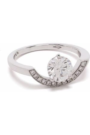 Loyal.e Paris Recycled 18kt white gold Intrépide Grand Arc diamond ring