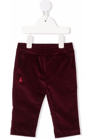 Le Bebé Enfant Logo-embroidered straight trousers
