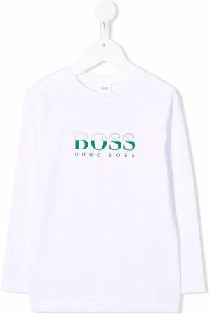 HUGO BOSS Two-tone logo long-sleeve T-shirt