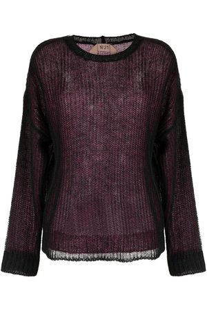 Nº21 Long-sleeved knitted sweater