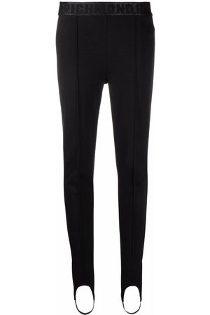 John Richmond Logo-waist stirrup-cuffs leggings
