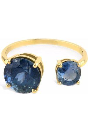 GFG Jewellery 18kt yellow Artisia sapphire open ring