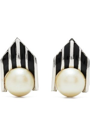 Givenchy Pre-Owned 1980-1990s pearl-embellished clip-on earrings