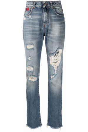 John Richmond Slim-fit distressed jeans