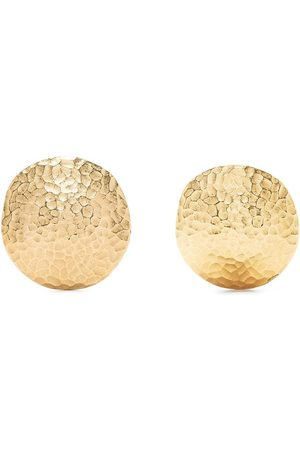 Givenchy Pre-Owned Hammered-effect clip-on earrings