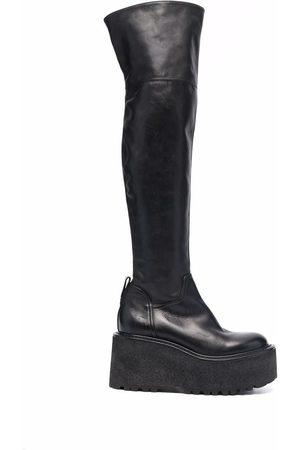 Premiata Chunky knee-high leather boots