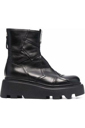 Premiata Patchwork-detail platform boots
