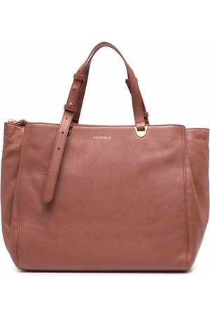 Coccinelle Logo-lettering leather tote bag