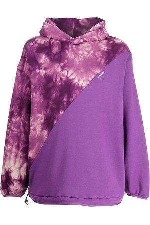 YOSHIO KUBO Tie dye panel hoodie