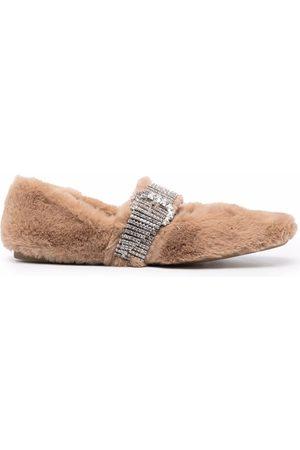 Jimmy Choo Krista faux-fur ballerina shoes