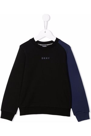 DKNY Two-tone cotton sweatshirt