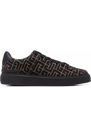 Balmain Monogram jacquard B-Court sneakers