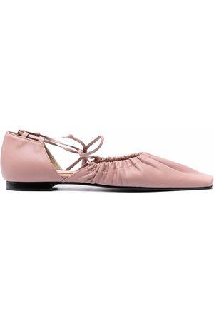 Reike Nen Square-toe ballerina shoes
