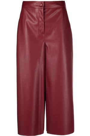 ..,MERCI Women Leather Pants - Cropped faux-leather trousers