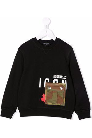 Dsquared2 Boys Sweatshirts - Camo pocket sweatshirt