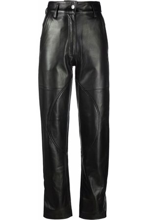Manokhi Twisted seam leather trousers