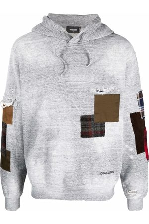 Dsquared2 Patchwork-detail cotton hoodie