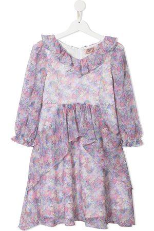 Marchesa Notte Girls ruffle floral dress