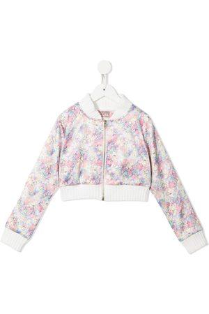 Marchesa Notte Floral bomber jacket
