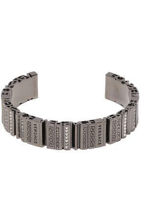 VERSACE Engraved-logo cuff bracelet